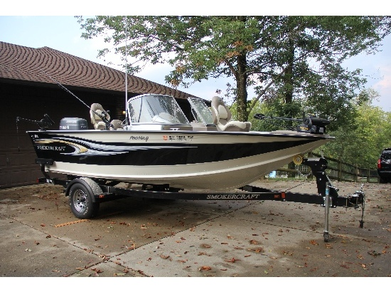 Yamaha swing arm boats for sale for Smoker craft pro mag