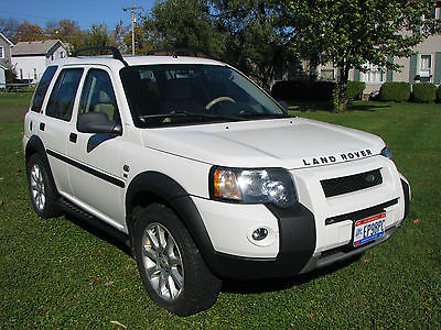 Land Rover : Freelander HSE Sport Utility 4-Door Clean 2005 4 Door, White with Tan interior, AWD Land Rover Freelander