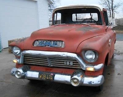 GMC : Other 100 1957 gmc 100 rare factory pontiac v 8 engine original paint not a chevrolet
