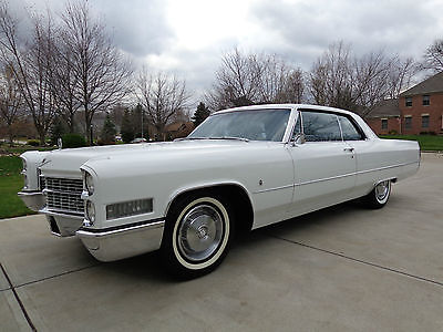 Cadillac : Other Coupe 1966 cadillac calais coupe one family owned 53 k original miles cream puff