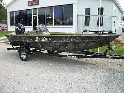 2014 SeaArk RX170 25hp Mercury 4 stroke Trolling motor and trailer