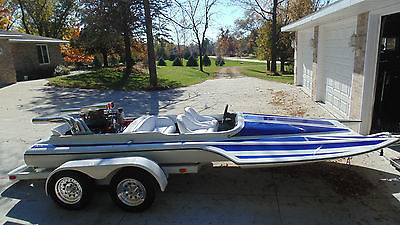 RARE WILSON TUNNEL HULL PICKLE FORK CUSTOM JET BOAT FAST CUSTOM 454 BIG BLOCK