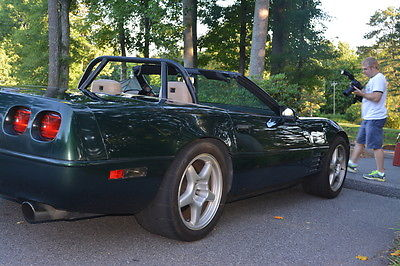 Chevrolet : Corvette convertible 6 speed supercharged 383 ci 1992 convertible pollo green corvette