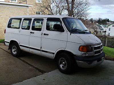 Dodge : Ram Van Passenger Van 2002 dodge ram 1500 passenger work van 64 000 miles salvage title