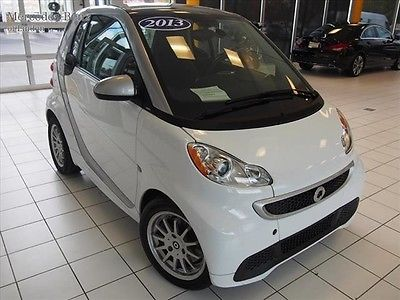 Smart 2013 smart car passion white black leather heated seats mpg one owner