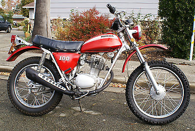 Honda : Other 1970 honda sl 100 motorcyce dual sport street legal licensed sl 100
