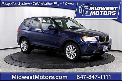 BMW : X3 xDrive28i 2013 bmw x 3 xdrive 28 i awd nav tech pkg premium cold weather pano roof 1 owner