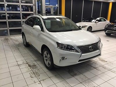 Lexus : RX 2013 rx 350 low miles clean one owner 3.5 pearl white tan leather