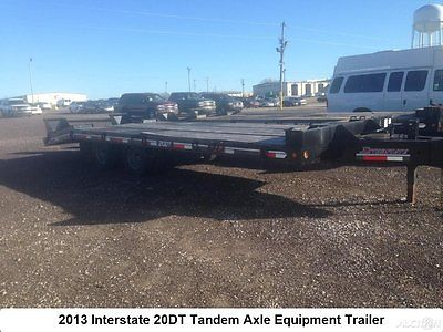 2013 Interstate 20DT Tag Along Equipment Trailer Tandem Axle Heavy Used