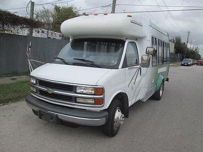 Chevrolet : Express WHEEL CHAIR HANDICAP VAN 2000 chevy express handicap wheel chair van low miles 11 passenger braun lift