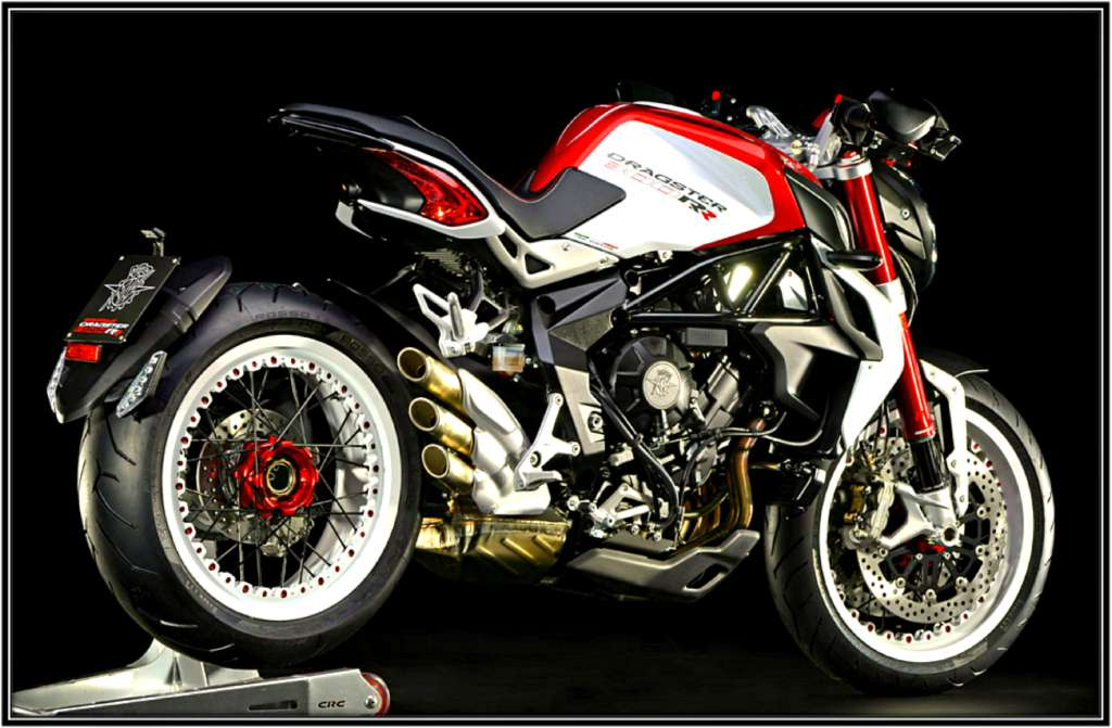 2016 Mv Agusta Brutale 800 Dragster RR - Pearl Shock Red / Pearl Ice W