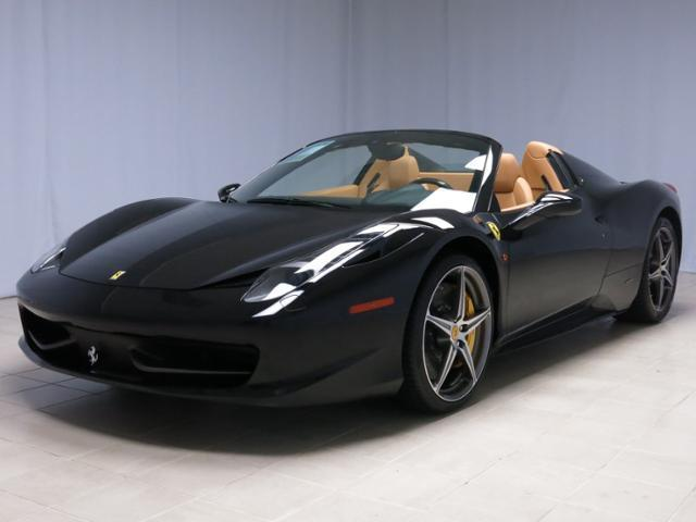 Ferrari : Other 2dr Conv 2013 ferrari 458 spider with delivery miles only 83 miles since new black