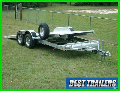 2016 aluma 8220 HT gravity tilt equipment carhauler trailer aluminum w spare