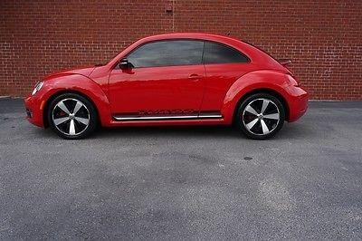 Volkswagen : Beetle-New BEETLE TURBO 2012 vw beetle vw pre certified only 27 k miles carfax certified turbo fun