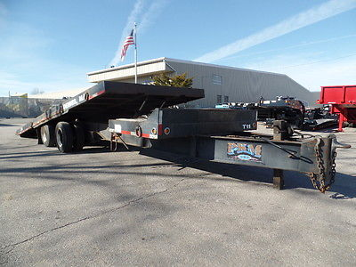 2004 EAGER BEAVER 20 TON TILT TOP TAG TRAILER,2 AXLE, 27' OVERALL LENGTH