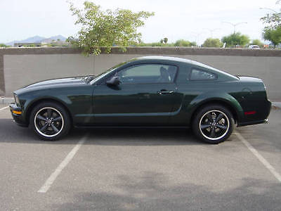 Ford : Mustang Bullitt 2008 bullitt in dark highland green with 7500 miles
