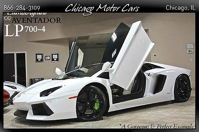 Lamborghini : Aventador 2dr Coupe 2012 lamborghini aventador lp 700 4 quicksilver titanium exhst navigation loaded
