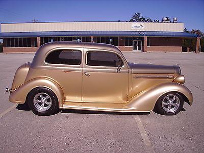 Plymouth : Other 2 Door Sedan 1936 plymouth 2 door sedan streetrod 350 v 8 700 r 4 a c mustang ii frontend nice