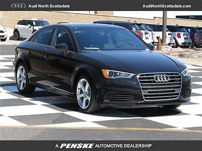 Audi : A3 Drivers Assist Sport Suspension New Audi A3 FWD Heated Black Leather Bluetooth Audio Sirius XM Pano Roof Camera