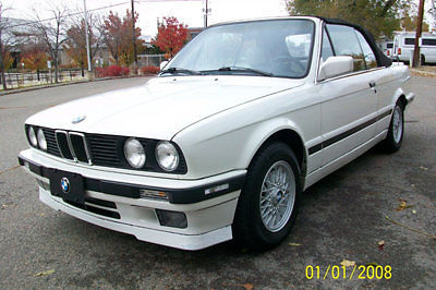 BMW : 3-Series 325iC 1992 bmw 325 i cabriolet rare white on white w m technic pkg 5 spd new int