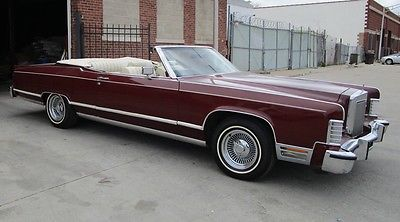 Lincoln : Other convertible 1978 lincoln convertible
