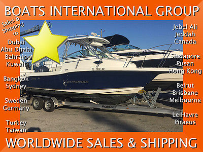 2005 SEASWIRL 2301 WA STRIPER 250 YAMAHA FOUR STROKE AC We Ship/Export Worldwide