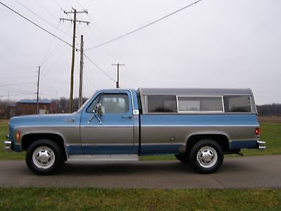 GMC : Sierra 2500 Camper Special 1978 gmc 350 29 k original miles 2 wd survivor stored winters used for camping