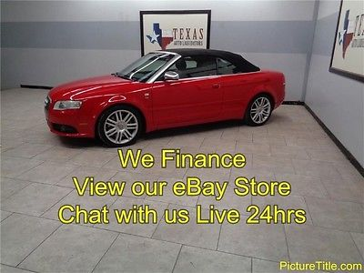 Audi : S4 Convertible 4.2 V8 6 Speed AWD Quattro 07 audi s 4 convertible roadser awd quattro v 8 6 speed leather we finance texas