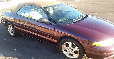 Chrysler : Sebring JXi Must See 1999 Chrysler Sebring JXi Convertible 2-Door