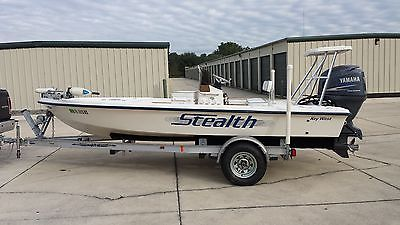 2003 KEY WEST 1760 STEALTH FLATS BOAT, YAMAHA 115 FOUR STROKE, 230 HOURS, NICE!