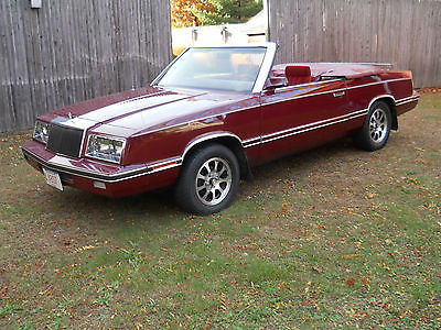 Chrysler : LeBaron Base Convertible 2-Door 1982 chrysler lebaron base convertible 2 door 2.2 l