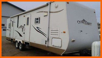2007 Gulf Stream Conquest 29FKS 33' Travel TRLR 2 Slides Upgraded Tires Hitch