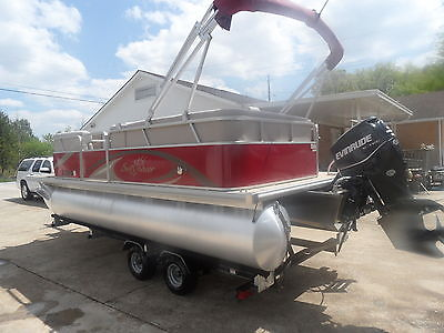 2013 Sunchaser 21' Pontoon 90 HP Evinrude With Warranty Trailer Included, Ship