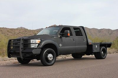 Ford : Other Pickups 2011 6.7 diesel f 550 crew cab superduty 4 x 4 flat bed goose neck f 250 f 350 f 450