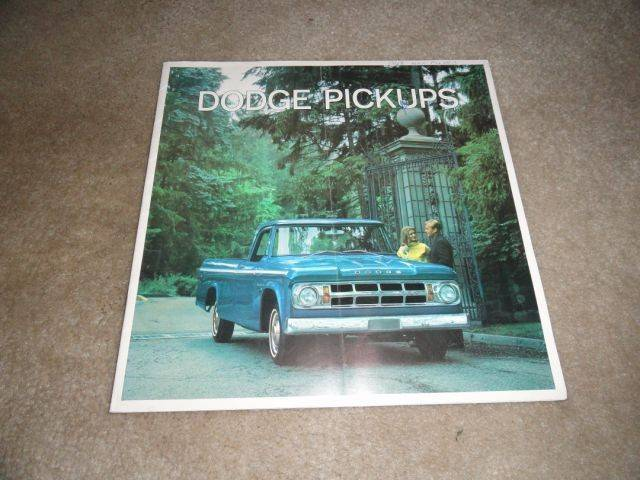 Dodge Truck, Dodge Power Wagon Sales Brochures