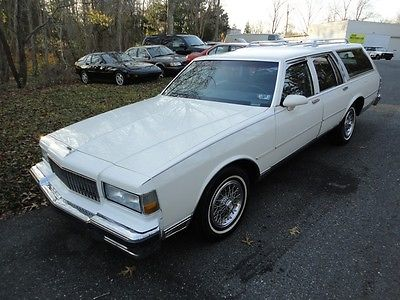 Chevrolet : Caprice 86k ORIG MILES, 3rd ROW SEAT 90 caprice classic wagon only 86 k miles all original loaded 3 rd row seat
