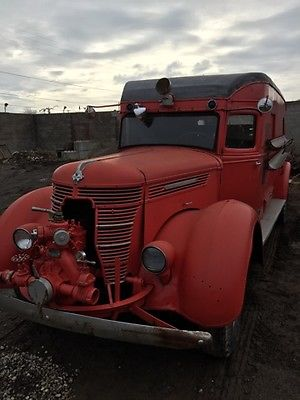 International Harvester : Other RARE 1947 d 50 international fire truck squad super rare