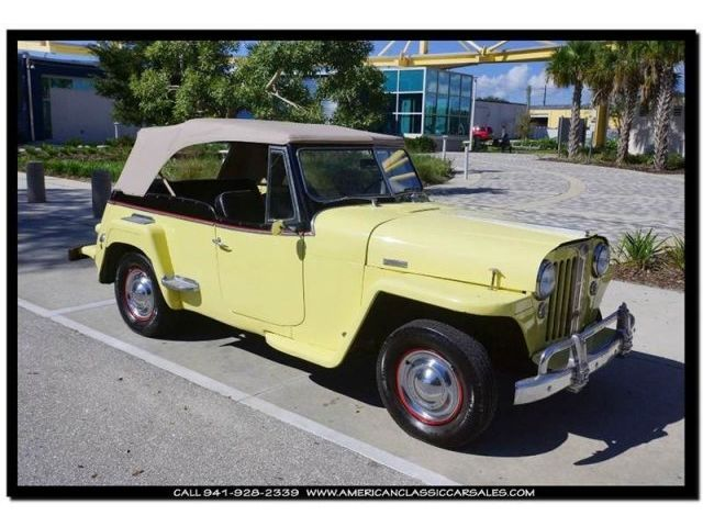 Willys Jeepster 1948 willy s jeepster yellow blk original car orig engine runs great sarasota fl