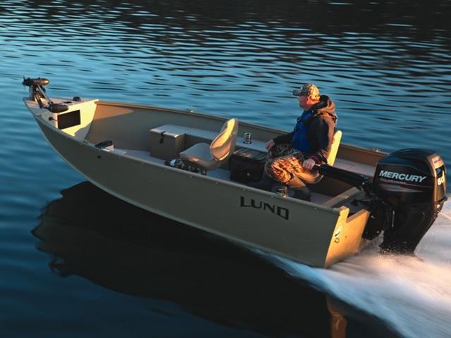 2015 Lund Aluminum 1600 Alaskan Tiller