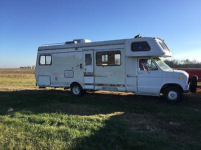 1984 Ford Mobile Traveler Class C RV Sleeps 6 Camper Van Needs Work Home