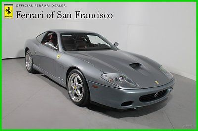 Ferrari : 575 Grigio Titanio with Bordeaux interior 2002 575 m maranello f 1 5.7 l v 12 48 v automatic fresh service