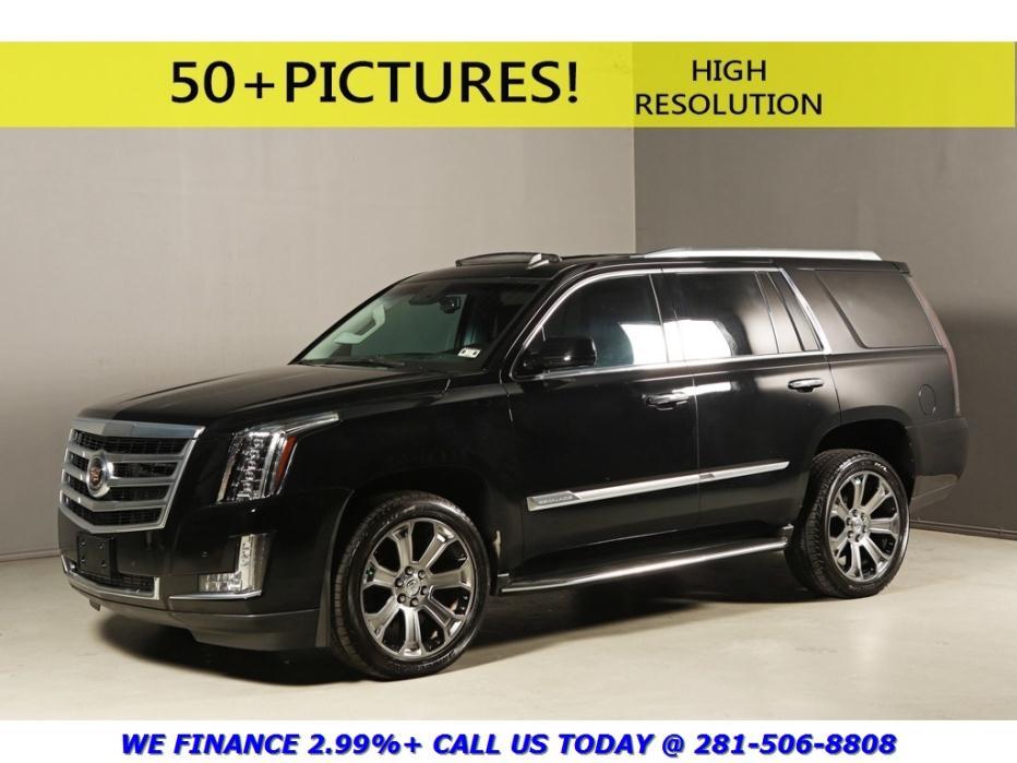Cadillac : Escalade 2015 PREMIUM 4X4 NAV SUNROOF DVD HUD BLINDSPOT 2015 cadillac escalade premium 4 x 4 nav sunroof dvd hud blindspot 7 pass black