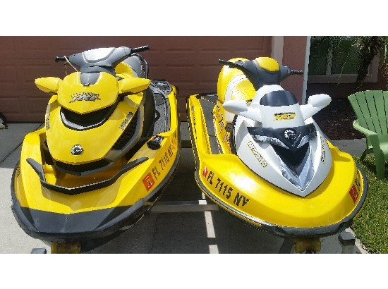 2009 Sea Doo RXT IS 255 and RXT 215 (two skis)