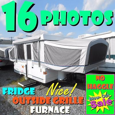 NO HAGGLE PRICE 03 Coleman Santa Fe popup: fridge, furnace, outside grille, NICE