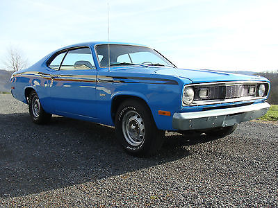 Plymouth : Duster Base 1972 plymouth duster 360 basin street blue