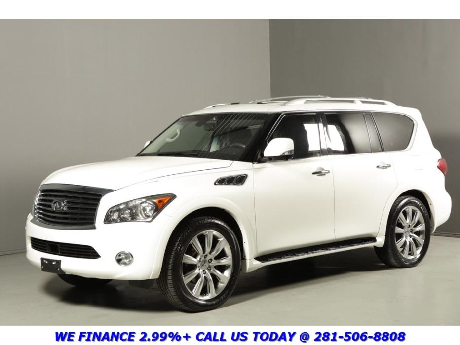 Infiniti : QX56 2012 TOURING NAV DVD 7-PASS 360CAMERA SUNROOF BOSE 2012 infiniti qx 56 touring nav dvd 7 pass 360 camera sunroof bose blindspot white