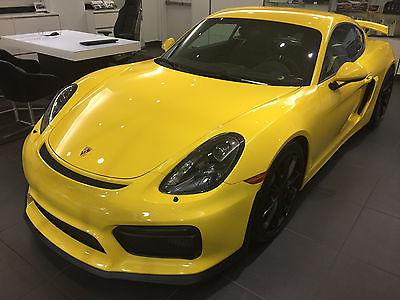 Porsche : Cayman GT4 2016 cayman gt 4 in racing yellow with light weight sport bucket seats