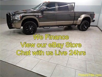 Dodge : Ram 3500 Laramie Resistol 4WD GPS Navi TV Sunroof 09 3500 laramie resistol 4 x 4 gps navi tv dvd sunroof warranty finance texas
