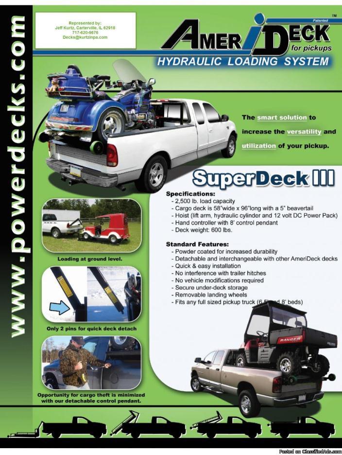 SuperDeck III motorcycle towing deck.