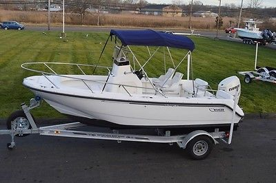 1999 BOSTON WHALER 18 OUTRAGE CC, 2011 ETEC 150HP 300HR W/WARRANTY, 2014 TRAILER